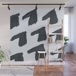 Horse, Abstract, Black & White Wall Mural