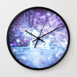 Mermaid Waterfall Wall Clock
