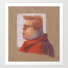 Red Shirt Art Print