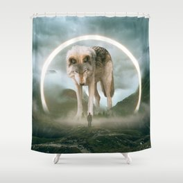 aegis | wolf Shower Curtain