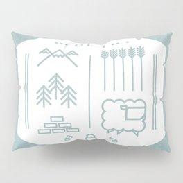 Settlers Line Art Pillow Sham