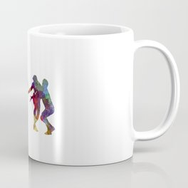 Rugby men players 02 in watercolor Coffee Mug