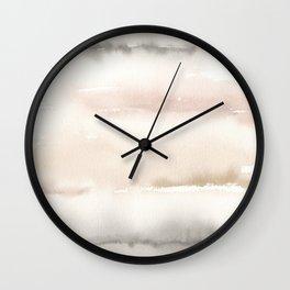Origin Neutral Watercolor Wash Wall Clock