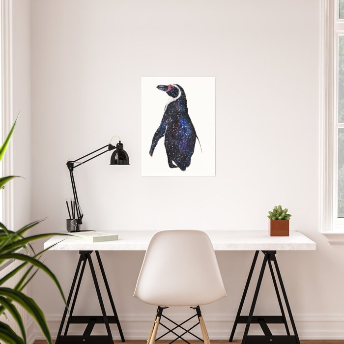 galactic penguin Poster