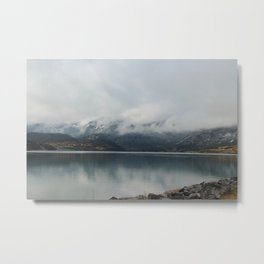 Barrier Lake in the Fog Metal Print