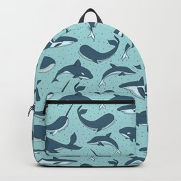 Cute Sea Creatures Pattern Backpack
