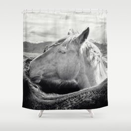 Rugged Horses Photograph Shower Curtain