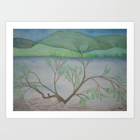 Banks of the Canal Art Print