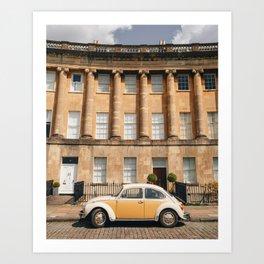 Vintage Car by The Royal Crescent Art Print