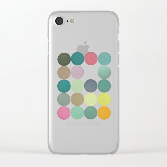 Circles I Clear iPhone Case