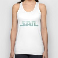 sailing Tank Tops featuring Sailing by Catherine Holcombe