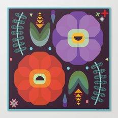 Flowerfully Folk Canvas Print