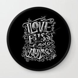 love, Bliss & Magic Wall Clock