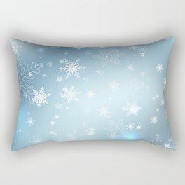 Snowflakes Christmas night Rectangular Pillow