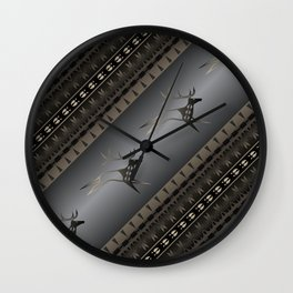 Elk Spirit (Gray) Wall Clock