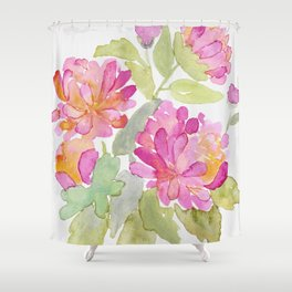 Pink Flowers in Bloom Shower Curtain