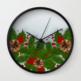 Christmas card Wall Clock