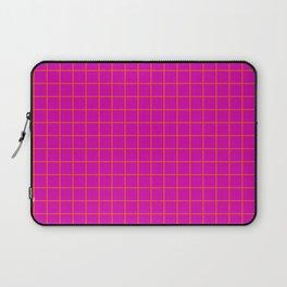 Magenta with Orange Grid Laptop Sleeve