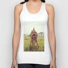 Giraffe Wants to Know Unisex Tank Top