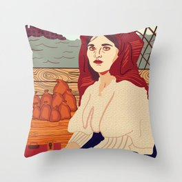 A Better Life, Italian Immigrant Woman Throw Pillow