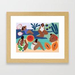 Fruity Bay Framed Art Print