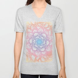 Mandalas n.1 - rainbow shadows Unisex V-Neck