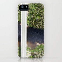 Bridge and a waterfall aerial photography iPhone Case