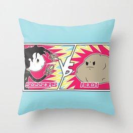 Scissors Vs Rock Throw Pillow