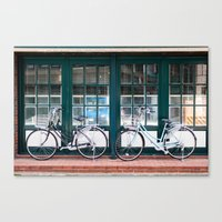 bicycles Canvas Prints featuring Bicycles by DoryTuohey