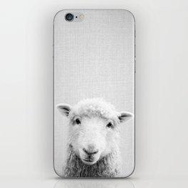 Sheep - Black & White iPhone Skin
