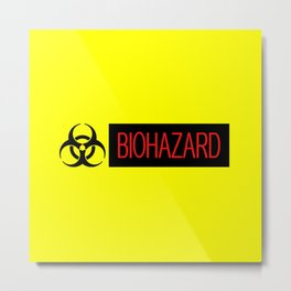 HAZMAT: Biohazard (Red, Black & Yellow) Metal Print