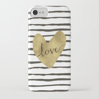 gold foil iPhone & iPod Cases featuring Love gold foil heart by Retro Love Photography