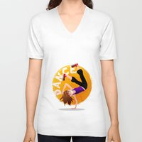 hip hop V-neck T-shirts featuring Hip Hop by NanaO