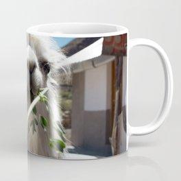 Llama eatin in Peru Coffee Mug