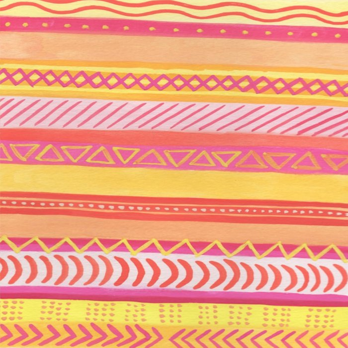 Tribal#1 (Orange/Pink/Yellow) Duvet Cover