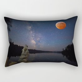 Super Blood Wolf Moon Rectangular Pillow