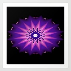 Purple Pie Delight... Art Print