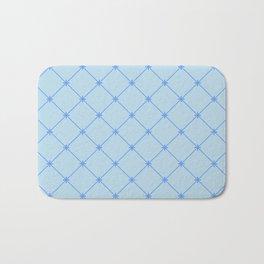 Blu Diamond Stitch Pattern Bath Mat