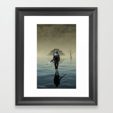 The hardest battle lies within (Blue Tunic / Shadow Variant) Framed Art Print