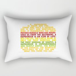 Your are what you think you eat Rectangular Pillow