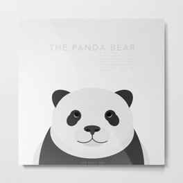 The Panda Bear Metal Print