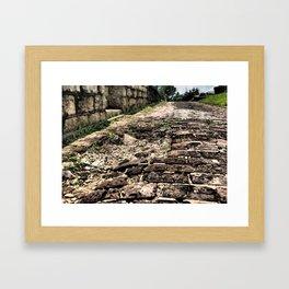 Broken Path Framed Art Print