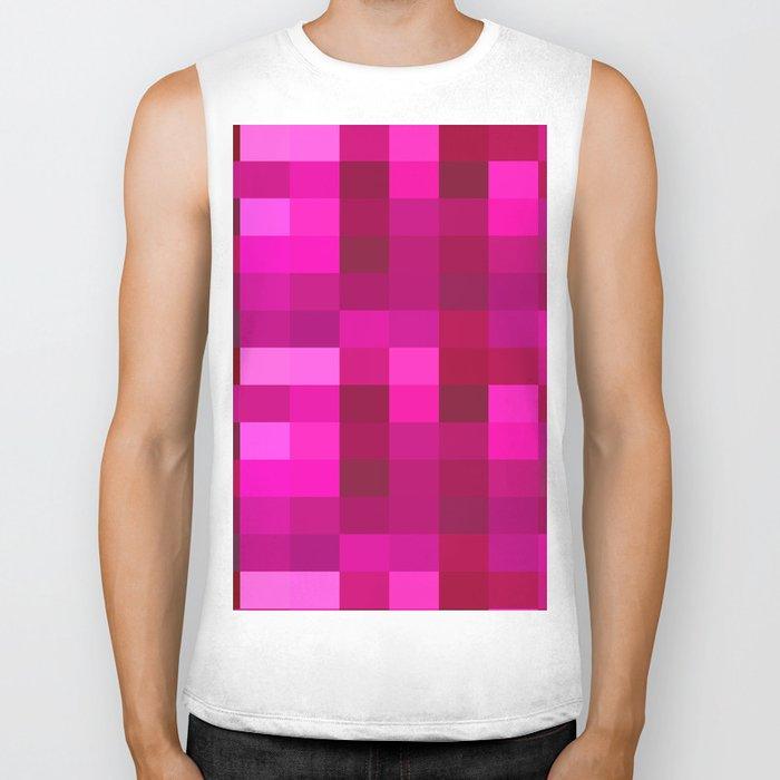 Pink Mosaic Biker Tank