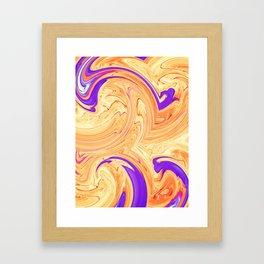 orange and purple wave pattern Framed Art Print