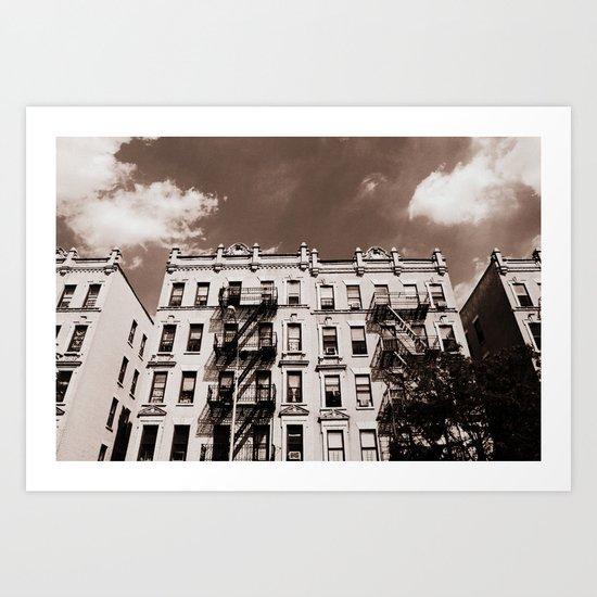 Bronx Buildings, New York City Art Print