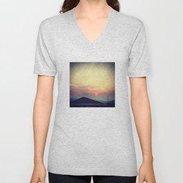 Red Sunset Unisex V-Neck