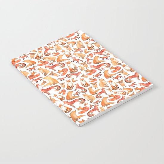Fox Pattern Notebook