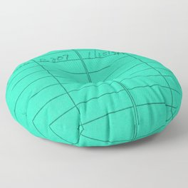 Library Card 797 Turquoise Floor Pillow
