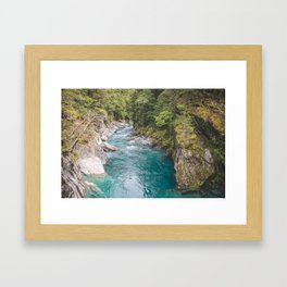 Blue Pools Framed Art Print