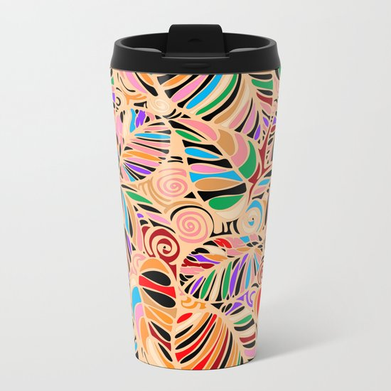 Summer Leaves Colors Metal Travel Mug
